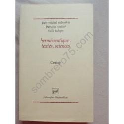 Herméneutique : textes,...