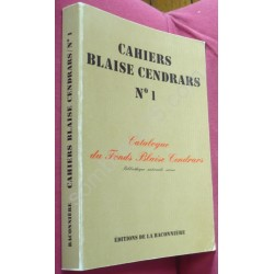 Cahiers Blaise Cendrars...