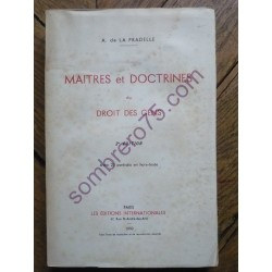 Maitres et Doctrines du...