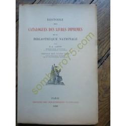 Histoire des Catalogues des...