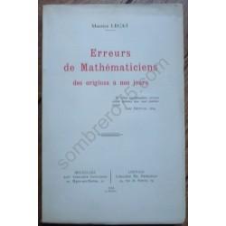 Erreurs de Mathématiciens...