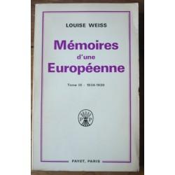 Mémoires d'une Européenne...