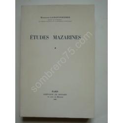 Etudes Mazarines Tome 1