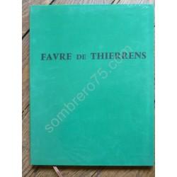 Favre De Thierrens. Envoi....